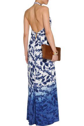 VIX Marlin Ella printed crepe dress