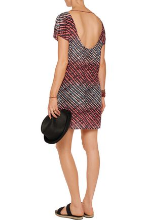 VIX PAULAHERMANNY Silvia printed washed-silk mini dress