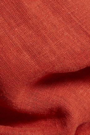 VIX Thai embellished linen-blend halterneck jumpsuit