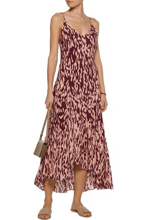 VIX Bali Elma asymmetric printed voile maxi dress