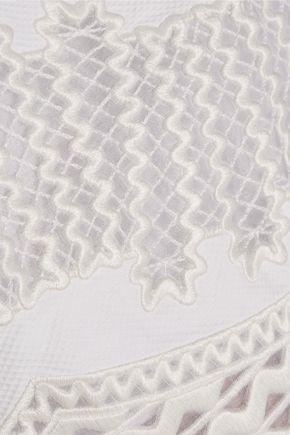 STELLA McCARTNEY Laycie embroidered organza and cotton-piqué mini dress