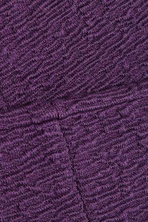 CARVEN Textured cotton-blend jersey mini dress