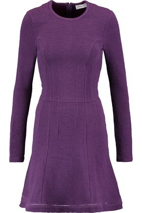 CARVEN Textured cotton-blend jersey mini dress
