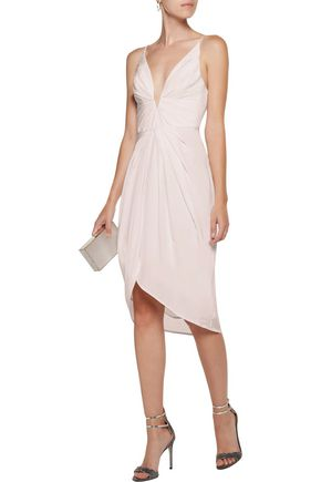 ZIMMERMANN Draped silk crepe de chine dress