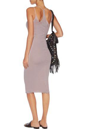 ENZA COSTA Stretch-cotton midi dress