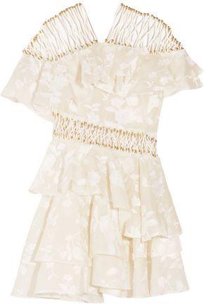 ZIMMERMANN Mischief appliquéd organza mini dress