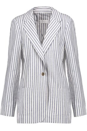 ZIMMERMANN Zephyr striped cotton and linen-blend blazer