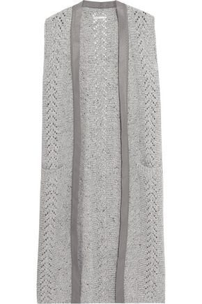 AGNONA Cable-knit wool and cashmere-blend gilet