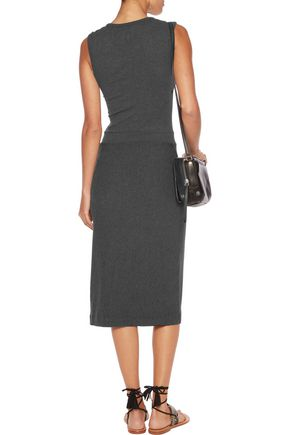 ENZA COSTA Wrap-effect jersey dress