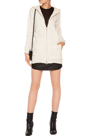 3.1 PHILLIP LIM Corded lace-paneled cotton-jersey hooded jacket