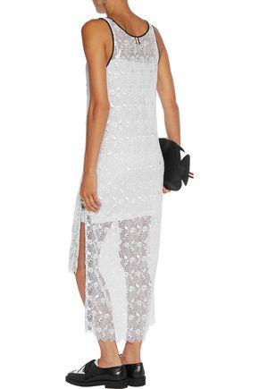 THOM BROWNE Henley asymmetric guipure lace dress