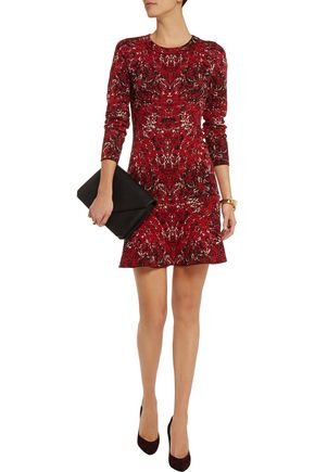 M MISSONI Jacquard-knit cotton-blend mini dress