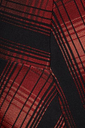 M MISSONI Checked stretch-knit mini dress