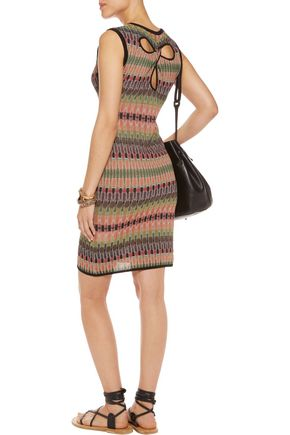 M MISSONI Cutout crochet-knit dress