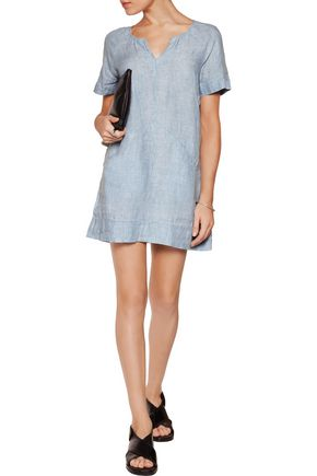 J BRAND Ada linen-chambray mini dress