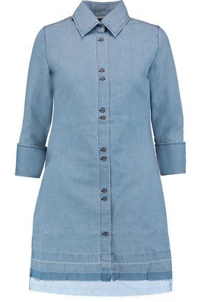 J BRAND Bacall denim mini shirt dress