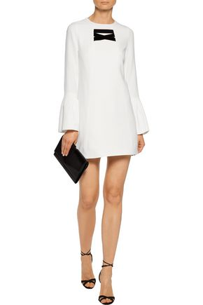 ALEXIS Josephine velvet-trimmed crepe mini dress