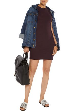 ENZA COSTA Ribbed-knit mini dress