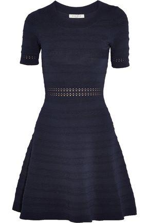 SANDRO Ribbed stretch-knit mini dress