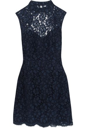 SANDRO Open-back corded lace mini dress