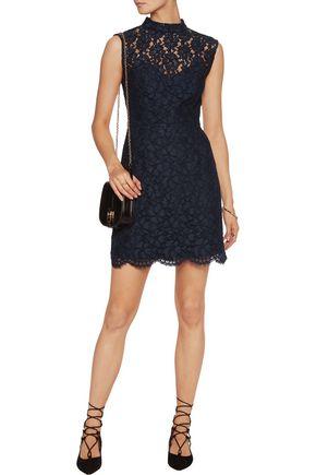 SANDRO Open-back corded lace mini dress