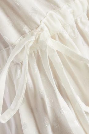 SANDRO Polka-dot voile mini dress