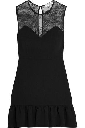 SANDRO Paris Corded lace and matelassé mini dress
