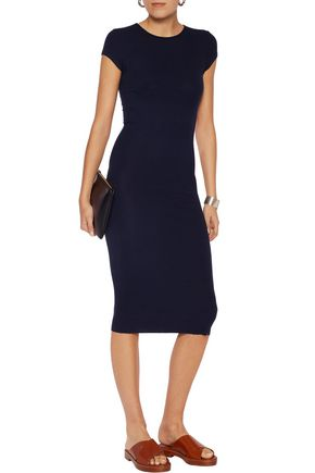 ENZA COSTA Ribbed stretch-knit dress