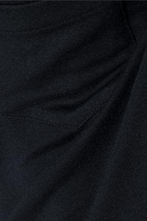HAUTE HIPPIE Traveler asymmetric stretch-modal jersey maxi dress