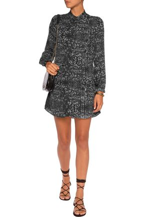 HAUTE HIPPIE Printed silk mini dress
