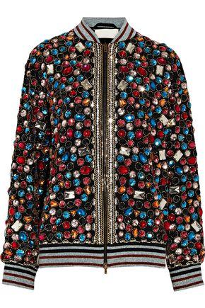 MAISON MARGIELA Embellished chiffon bomber jacket