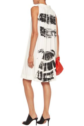 MAISON MARGIELA Coated pleated crepe dress