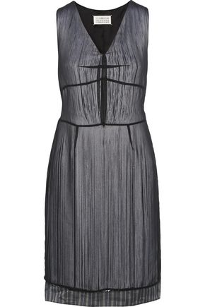 MAISON MARGIELA Fringed chiffon dress