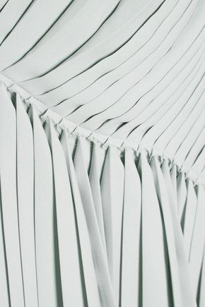 MAISON MARGIELA Asymmetric pleated chiffon midi dress