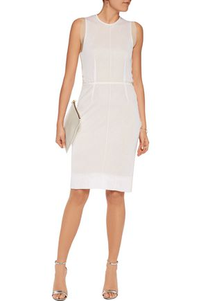 MAISON MARGIELA Tulle-trimmed stretch-knit dress