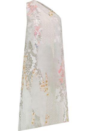 MAISON MARGIELA One-shoulder printed silk-georgette dress