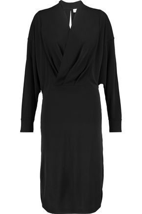 GANNI Doherty wrap-effect stretch-twill dress