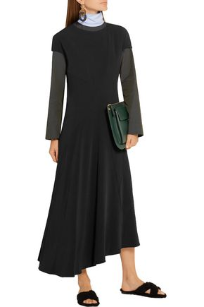 MARNI Asymmetric stretch-crepe midi dress