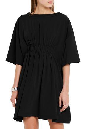 MM6 by MAISON MARGIELA Ruched crepe de chine mini dress