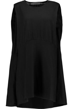 CO Gathered asymmetric cotton mini dress
