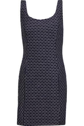 MILLY Italian Wave Stitch stretch-jersey mini dress