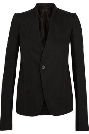 RICK OWENS Plinth wool-paneled cotton-drill blazer