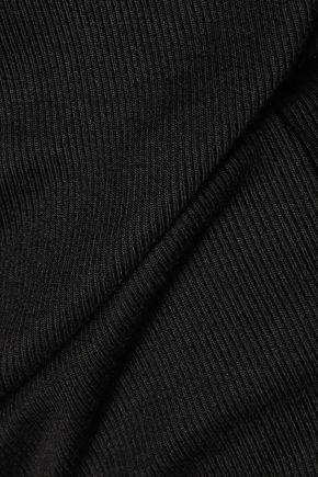 SPLENDID Ribbed stretch-jersey mini dress