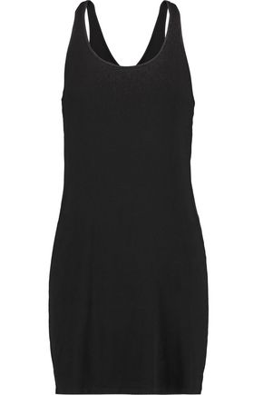 SPLENDID Ribbed stretch-jersey mini dress