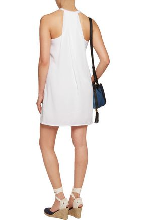 SPLENDID Crinkled-gauze mini dress