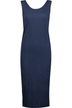 SPLENDID Twofer textured stretch-jersey midi dress