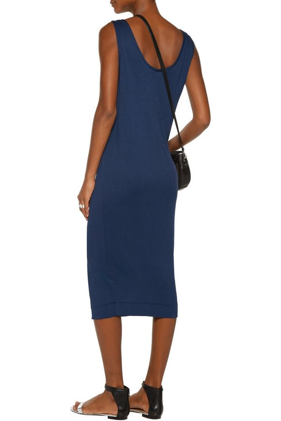 Twofer textured stretch-jersey midi dress | SPLENDID | Sale up to 70% off |  THE OUTNET