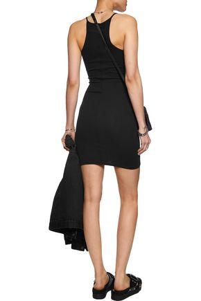 ENZA COSTA Ribbed stretch-cotton mini dress