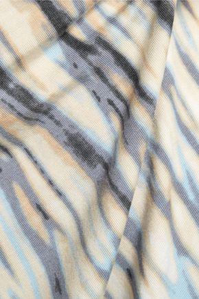 TART Caia cold-shoulder printed stretch-modal jersey dress