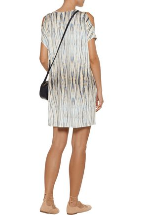 TART COLLECTIONS Caia cold-shoulder printed stretch-modal jersey dress